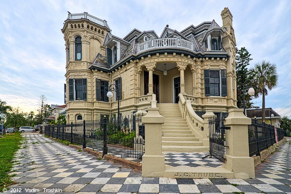 Historic trube castle galveston tx loved growing up for Galveston home builders