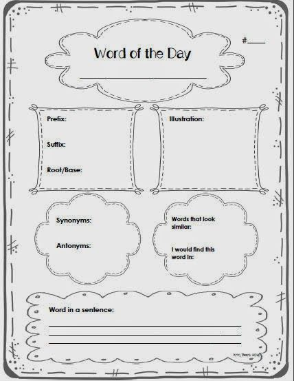 Mrs. Beers' 6th Grade Language Arts: Middle Grades Word