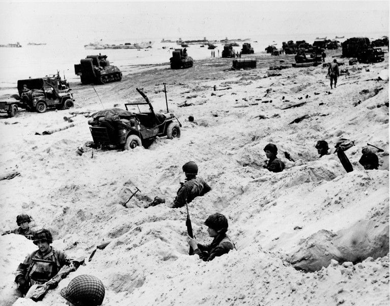 Invasion of Normandy - Normandy Beaches - WW II - June 6, 1944