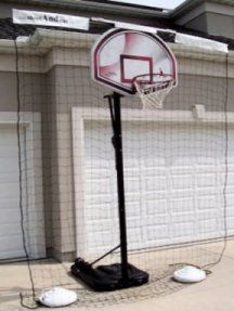 If You Want To Just Block The Ball From Going Into Your Neighbor S Yard Or Protect Your Landscaping The Net Can Be Posit Backyard Backyard Fun Basketball Hoop