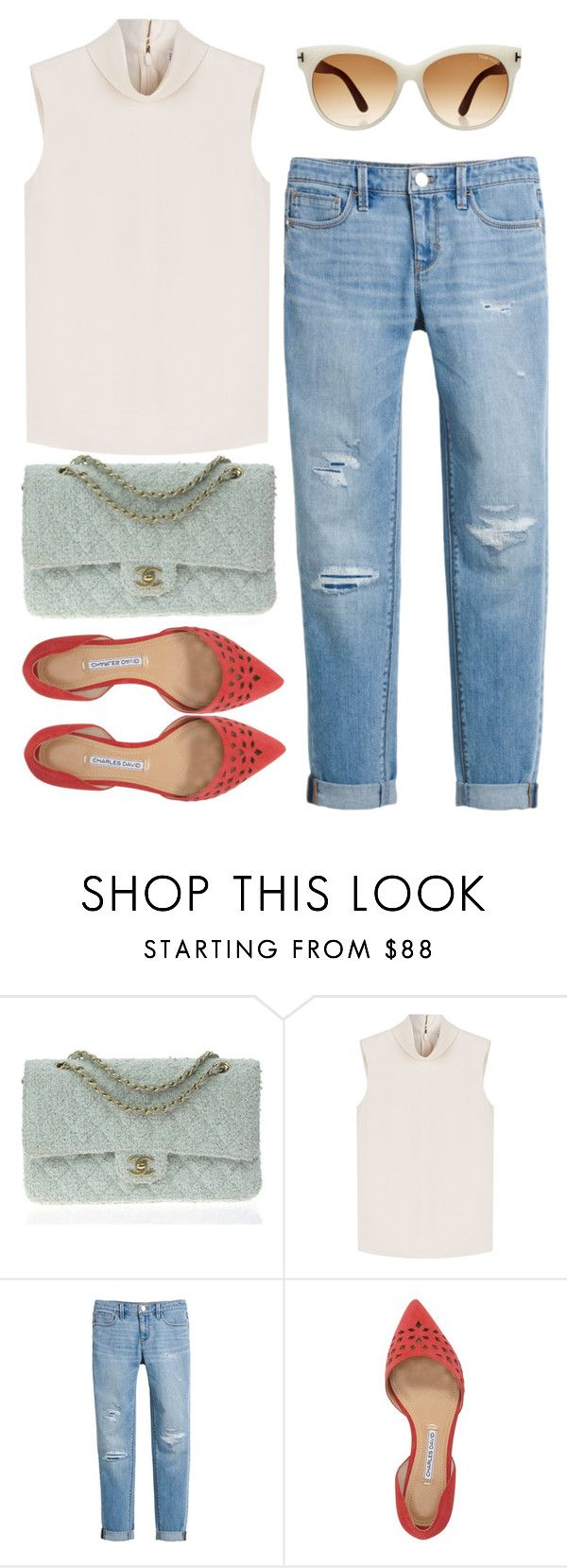 """Без названия #86"" by darina-kozlova ❤ liked on Polyvore featuring Chanel, RED Valentino, White House Black Market, Charles David and Tom Ford"
