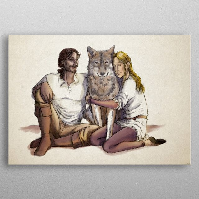Family by Marta Montell | metal posters - Displate | Displate thumbnail