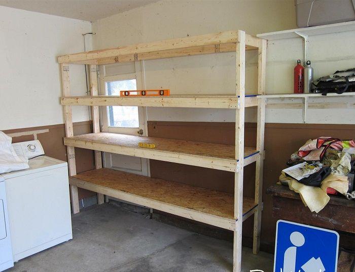 Garage Shelves Inspirations For Multipurpose Garage Area Simple