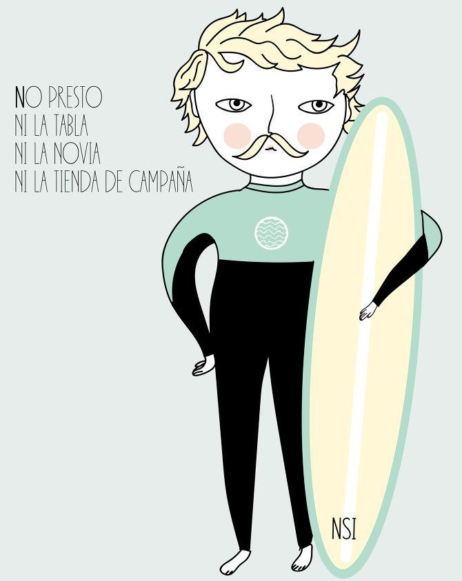 No presto ni la tabla, ni la novia, ni la tienda de campaña. - No soy ilustradora www.cargocollective.com/nosoyilustradora