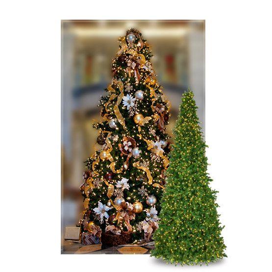 Giant Trees 15 Olympia Pine Mini Frame Full Prelit Commercial Tree Christmas Lights Etc Christmas Lights Tree Mini Frames