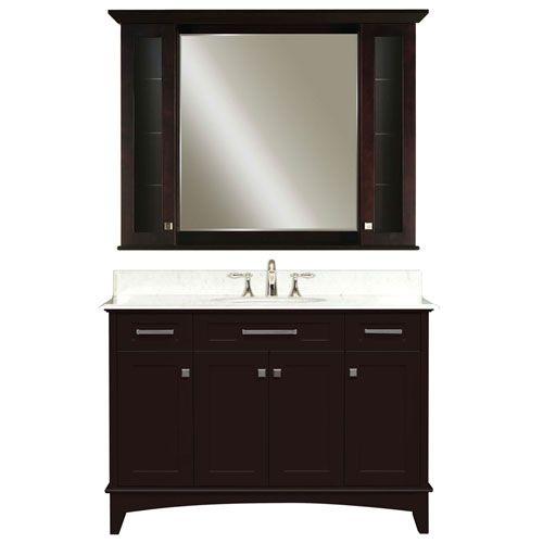 Manhattan Espresso Single Sink 48 Inch Bathroom Vanity ...