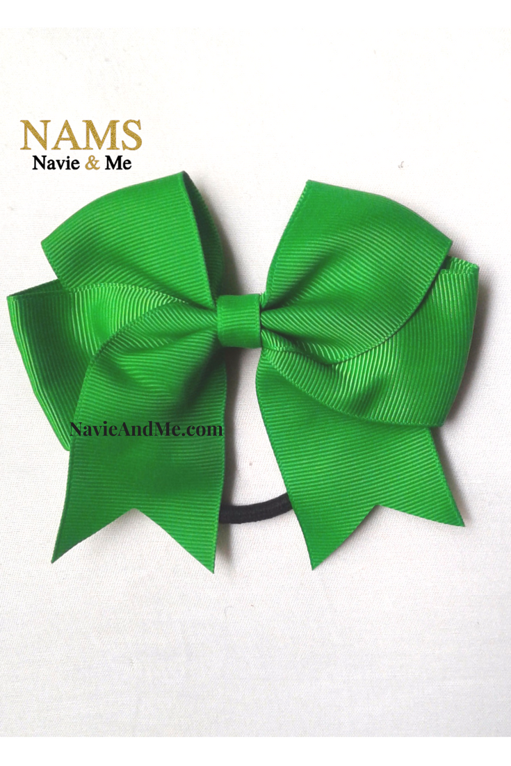 Christmas Hair Bows For Toddlers.Green Cheer Bow Green Hair Bow Cheer Bow 4 5 Small In