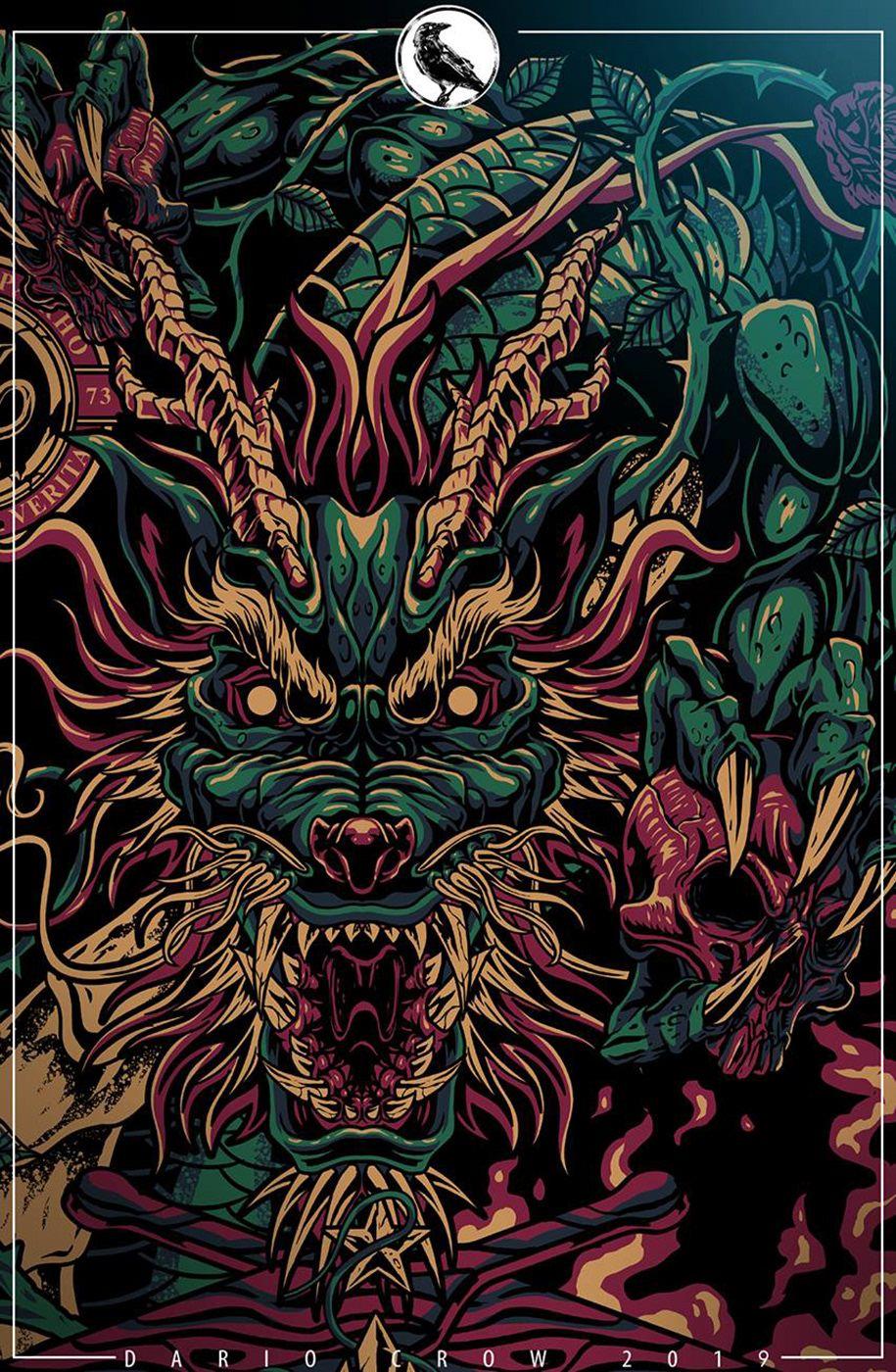 Akrho Dragons On Behance Dragon Tattoo Art Japanese Artwork Japanese Art Live wallpaper dragon tattoo