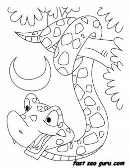printable king cobra snake coloring pages printable coloring pages
