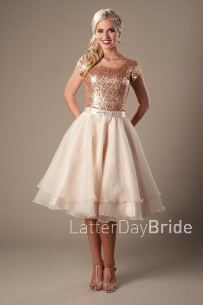 modest short homecoming gowns with sequins in Utah, the Annie in ...
