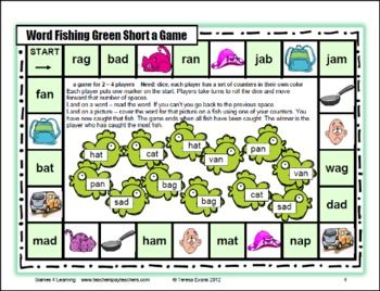 picture relating to Printable Short Vowel Games referred to as Limited Vowel CVC Board Online games Coaching Guidelines Quick vowel