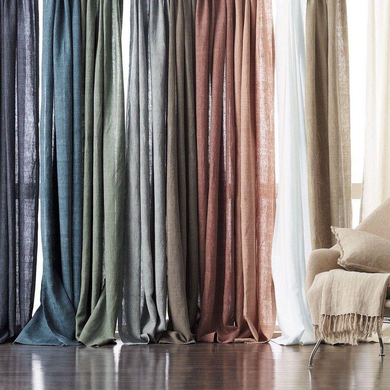 Belgium Linen Window Curtain Panel The Company Store Linen