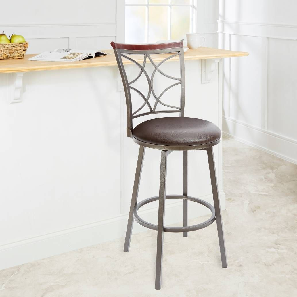 Outstanding Product Image For Silverwood Decorative Back Barstool 2 Out Squirreltailoven Fun Painted Chair Ideas Images Squirreltailovenorg