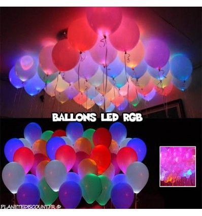 Ballons lumineux led prix discount objets petit for Led pour deco