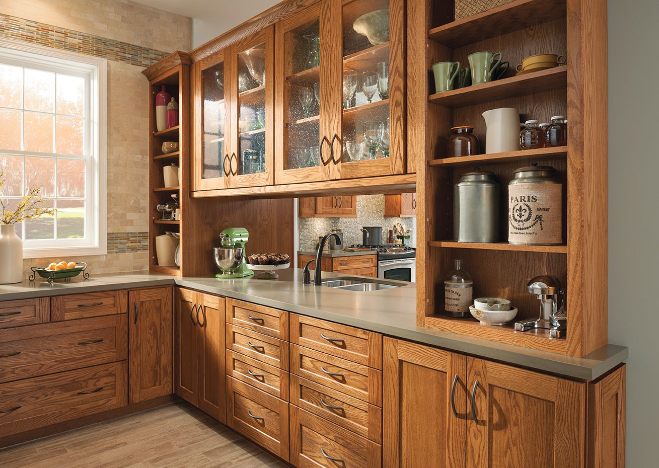 American Woodmark Cabinets Exclusively At The Home Depot Kitchen Design Traditional Kitchen Cabinets Rustic Kitchen