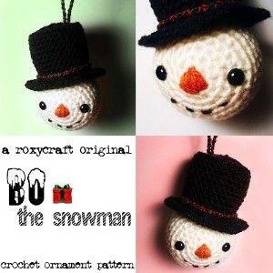 Hoofd van een sneeuwman met patroon.