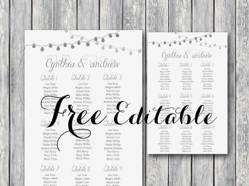 Free Wedding Printable Free Editable Wedding Seating Chart Template Free Wedding Seating Chart Wedding Template Seating Chart Wedding Reception Seating Chart
