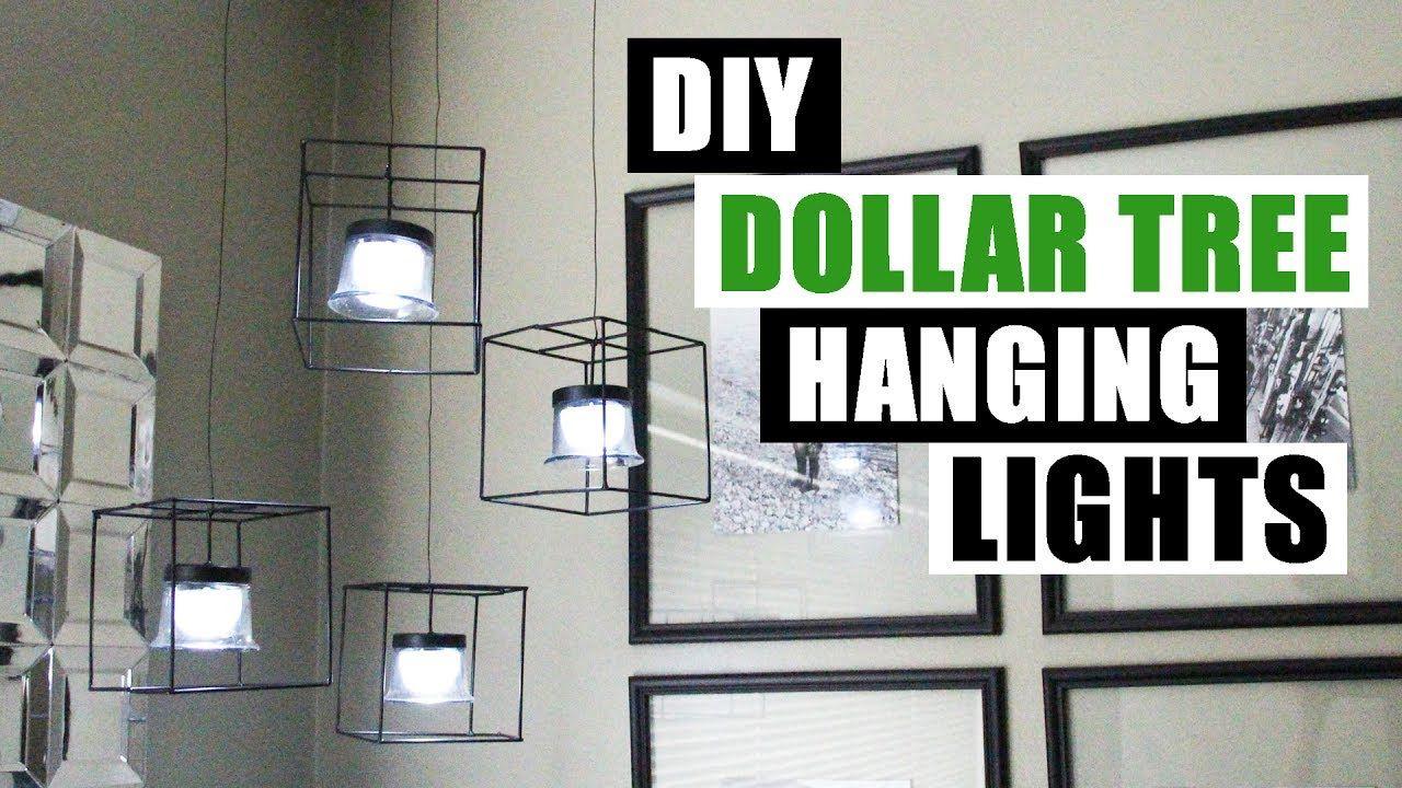 DIY DOLLAR TREE HANGING LIGHTS Dollar Store DIY Pendant Lighting DIY Hom. & DIY DOLLAR TREE HANGING LIGHTS Dollar Store DIY Pendant Lighting DIY ...