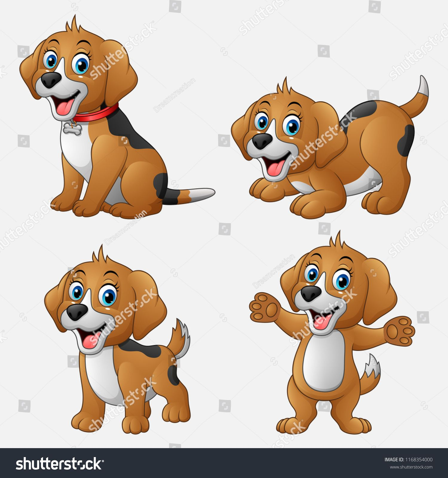 Cartoon Funny Dogs Collection Set Ad Sponsored Funny Cartoon Dogs Set Baby Animal Drawings Cartoon Character Design Cute Animal Drawings