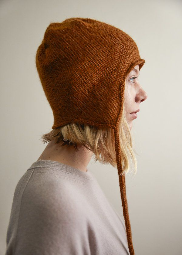 Top Down Ear Flap Hat Purl Soho Knitting Patterns Pinterest