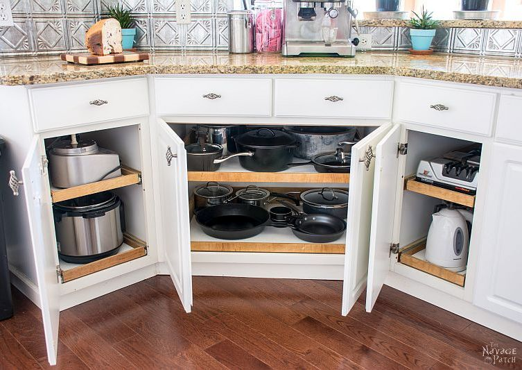 Fabulous Construct Under Cabinet Slide Out Shelves Diy Kitchen Home Interior And Landscaping Ologienasavecom