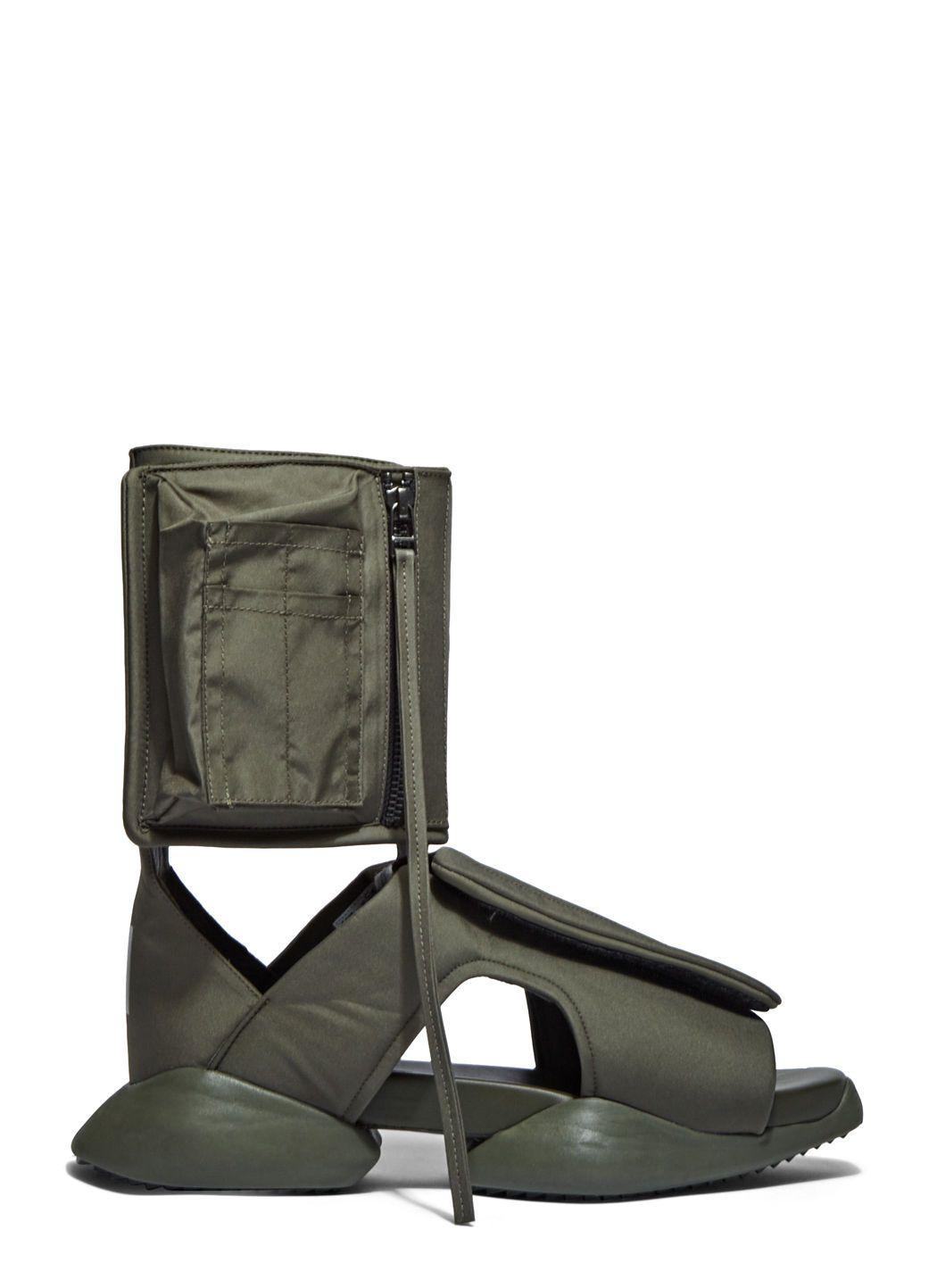 3a864f73e RICK OWENS X Adidas Men S Velcro Strap Ro Cargo Sandals In Khaki.  rickowens   shoes
