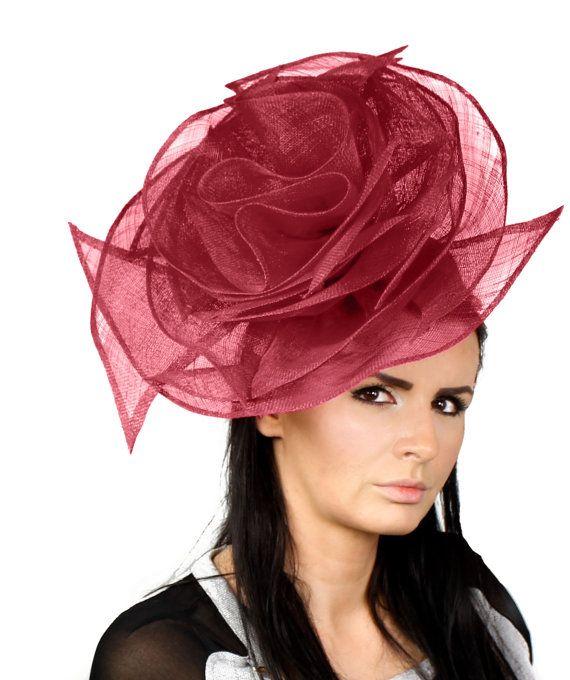 Beautiful Orange Dora Rose Fascinator Kentucky Derby Fascinator Hat for  Ascot 0f27a0624b85