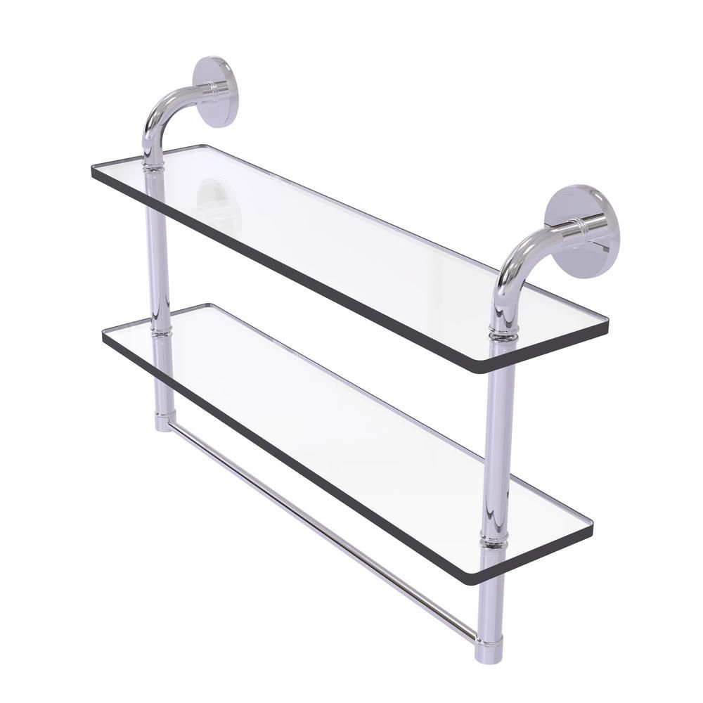Allied Brass Remi Collection 22 In 2 Tiered Glass Shelf