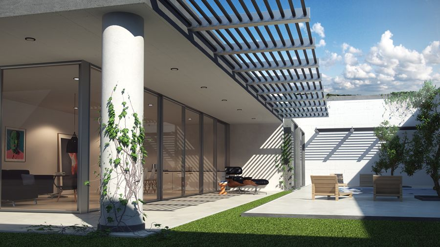 exterior house designs 3d max. 3ds max exterior2 Vray Sun for Realistic Exterior Rendering
