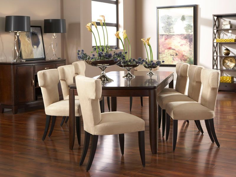 Boulevard Dining Room Set With 4 Aventura Dining Chairs Via Cort
