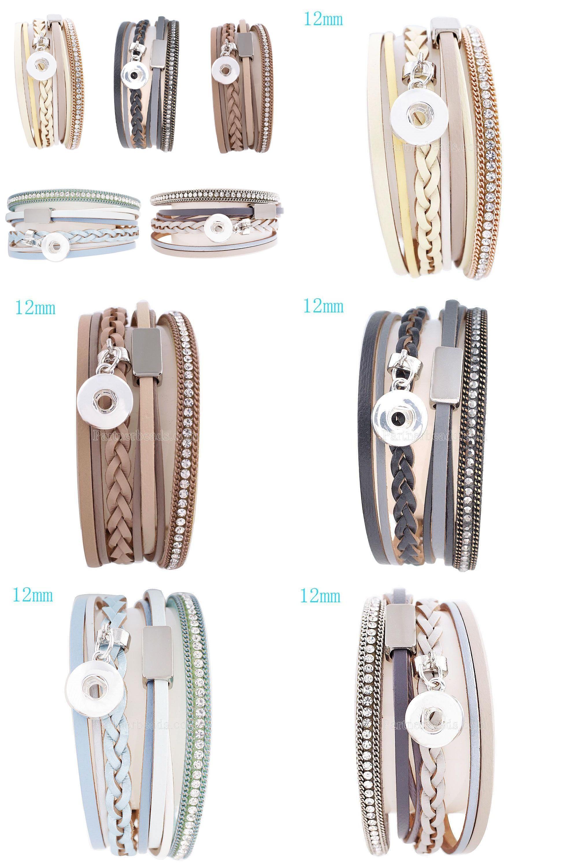 Visit to buy newest design snap braceletubangles high quality steel