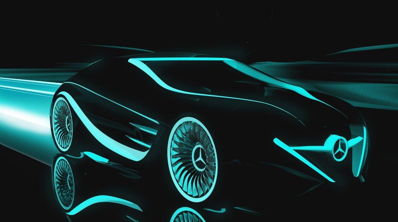 Tron Inspired Mercedes Blackbird Concept Car Mobil Mewah Mobil Sport Mobil Klasik
