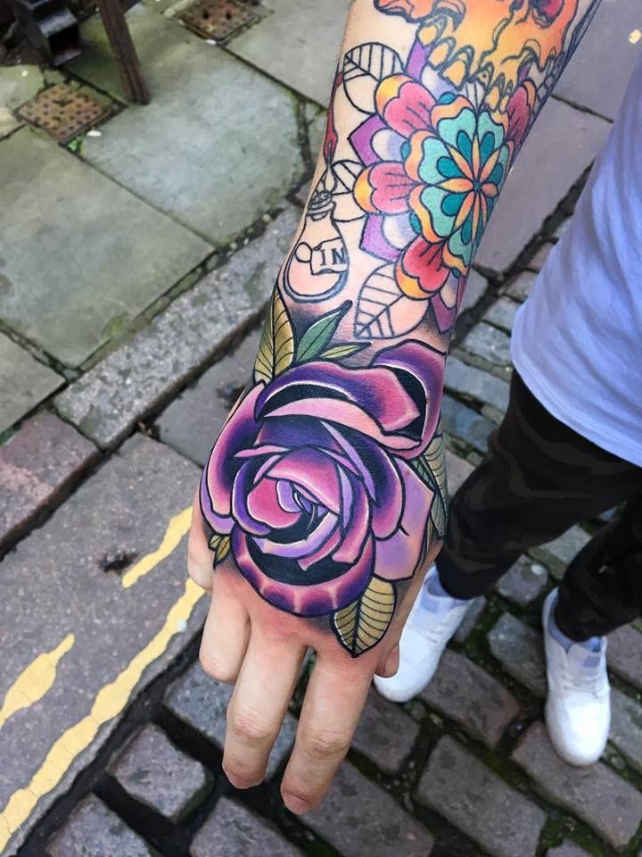 ca11a3931 Matt Webb - ElectricTattoos | Tattoos | Rose hand tattoo ...