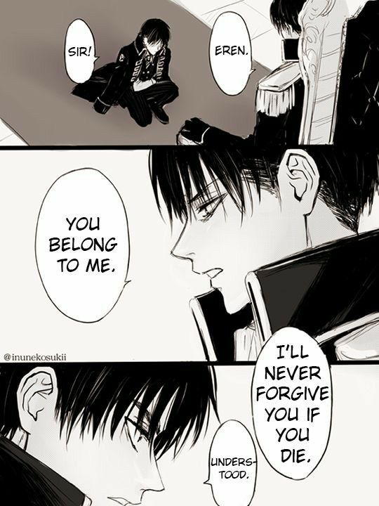 Eren Levi Yaoi Ereri Riren Text Comic Manga Soldier King