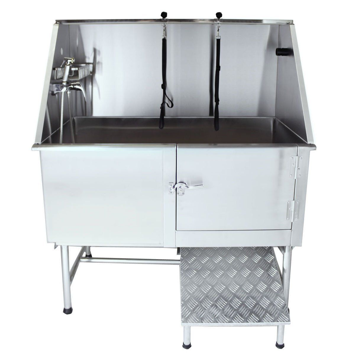50 Flying Pig Grooming Professional Stainless Steel Pet Dog Grooming Bath Tub With Faucet Walk In Ramp And Accessorie Dog Bath Tub Dog Grooming Tubs Dog Bath