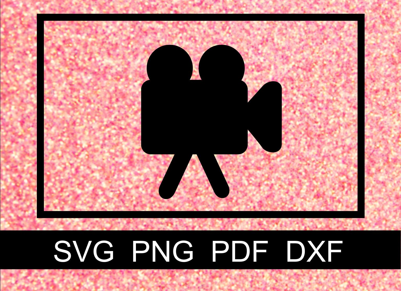 Film youtube video functional planner sticker, Filming SVG