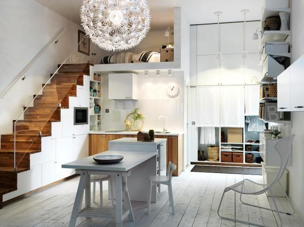 Einrichten Einrichtungsideen für die Wohnküche Interiors, Storage - ikea kleine küchen