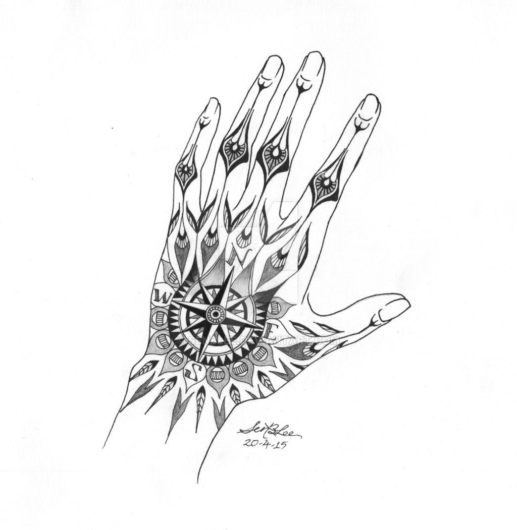 Hand Compass Tattoo Design By Senblee Watch Designs Interfaces Tattoo Tatuirovki Ideya Tatuirovki