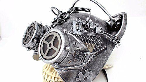 Steampunk Cat Mask Mechanical half Cat Face Mask Gears an...