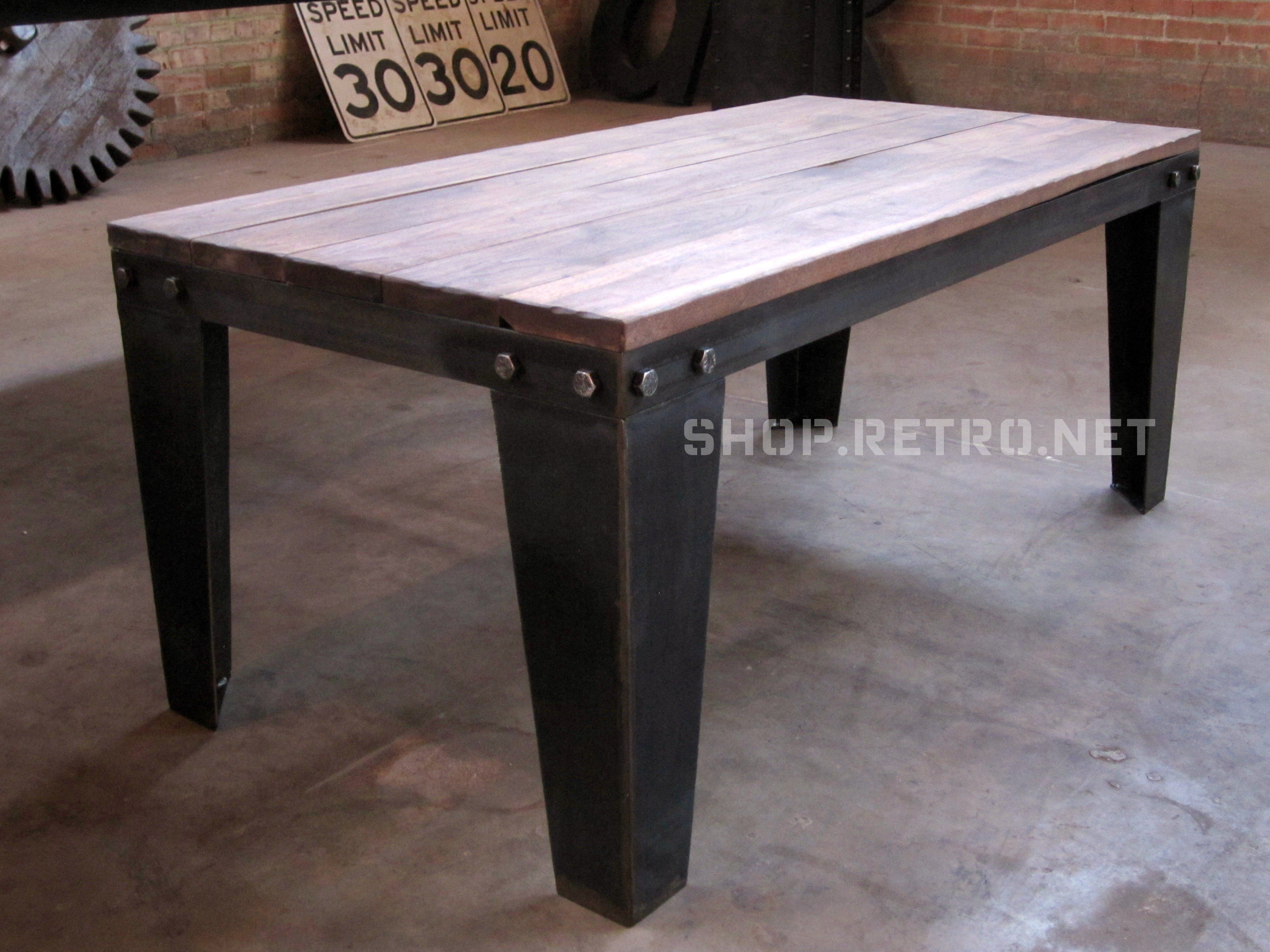 Bolted Coffee Table with Walnut Top by Vintage Industrial