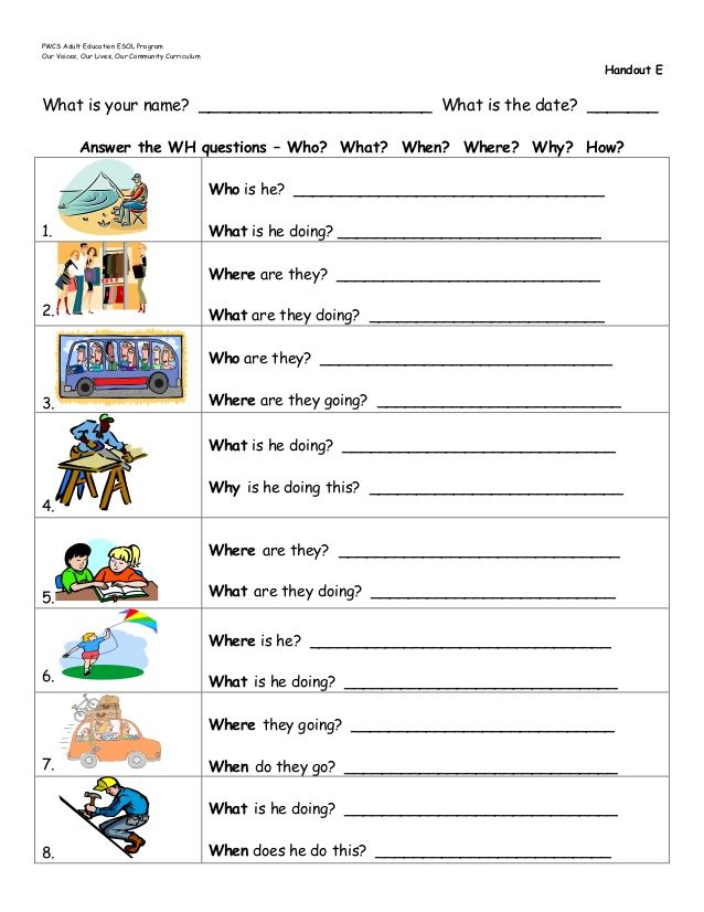 wh questions worksheets - Google Search | teaching resources ...