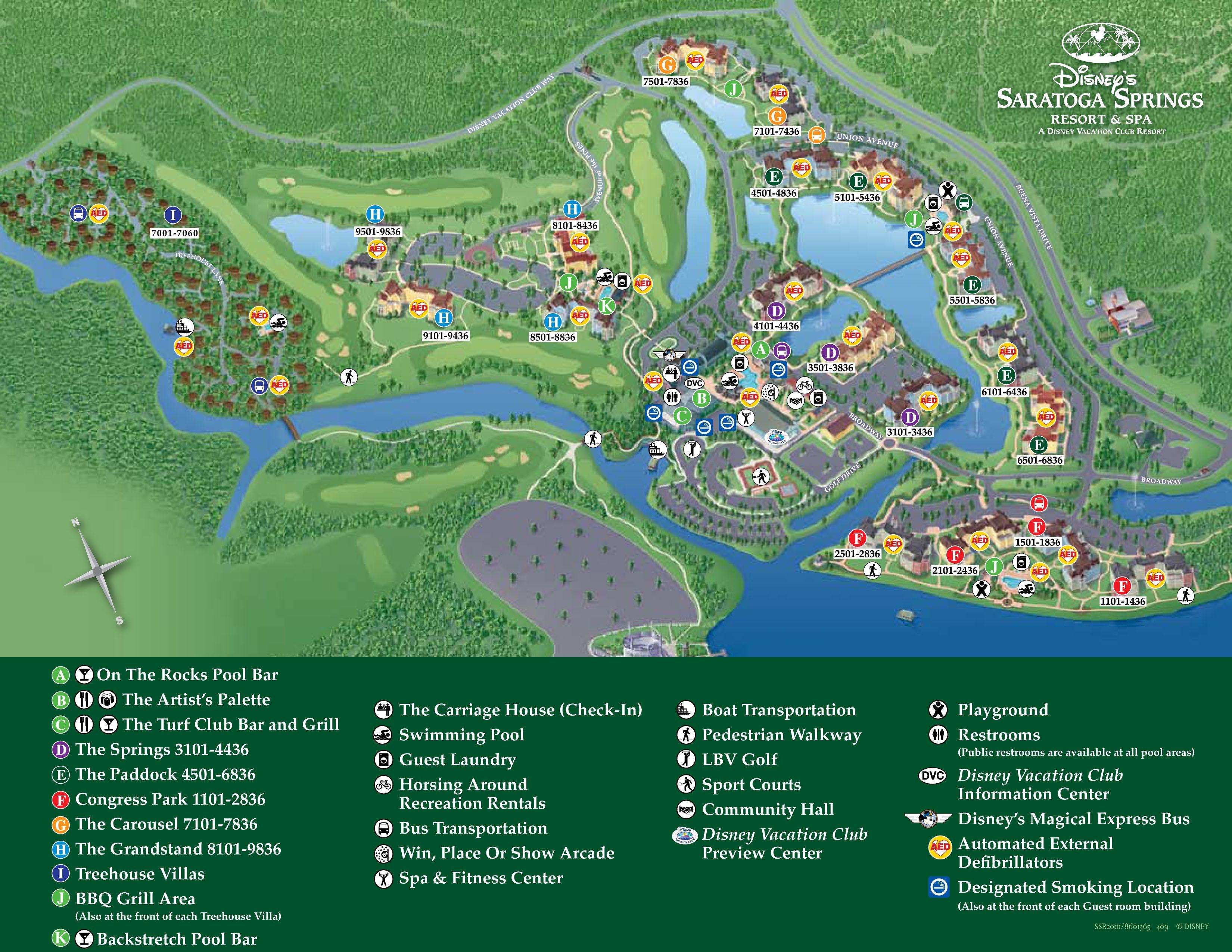 Saratoga Springs Resort Map Walt Disney World  Disney World Maps