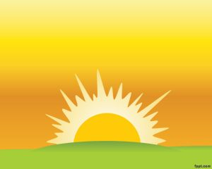 Sunset powerpoint template with yellow background sun illustration sunset powerpoint template with yellow background sun illustration and grass sunset powerpoint templates toneelgroepblik Images
