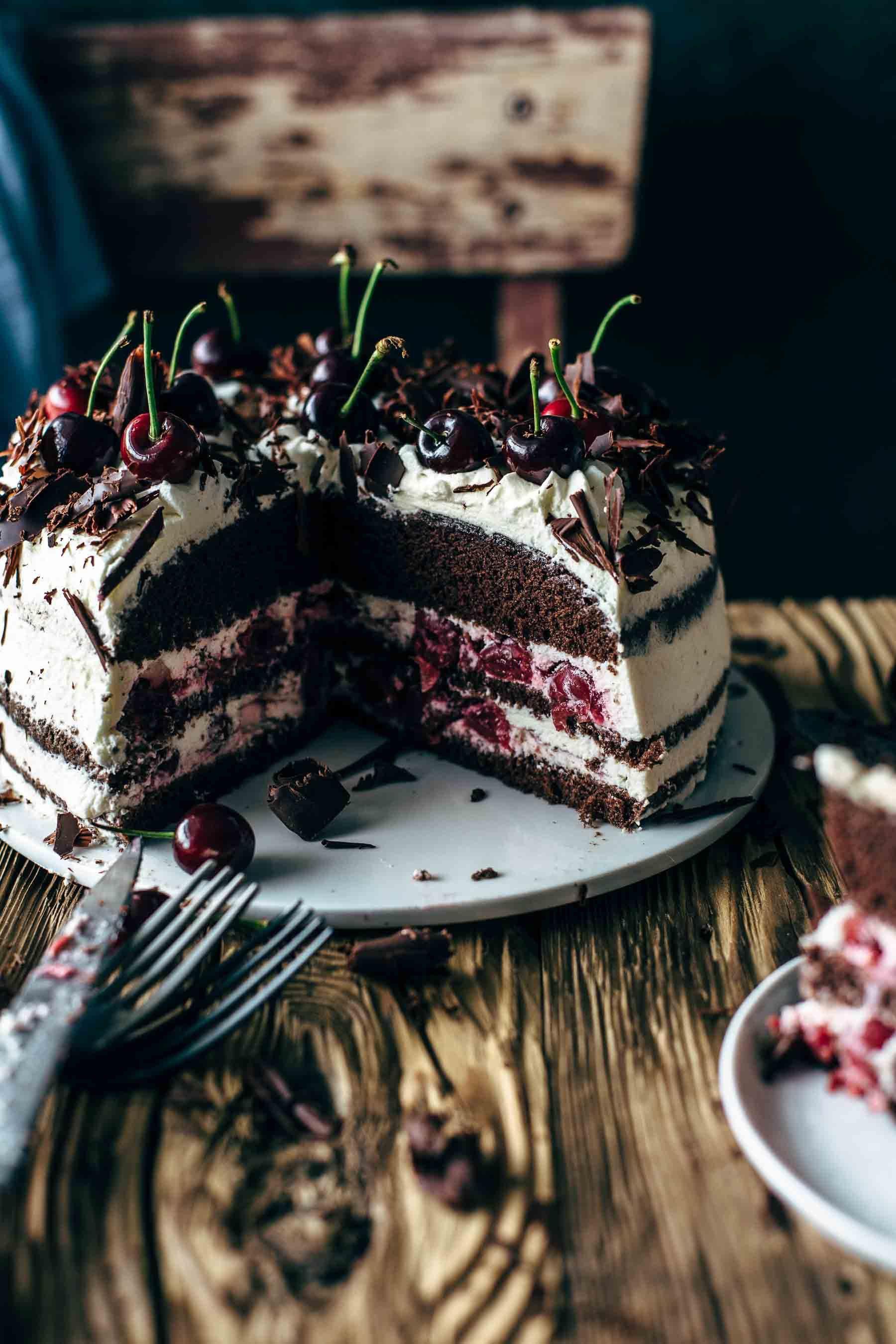 Authentic Black Forest Cake Recipe Schwarzwalder Kirschtorte