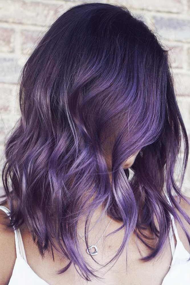 35 Unique Purple And Black Hair Combinations Lovehairstyles Com Hair Color For Black Hair Hair Color Purple Pretty Hair Color