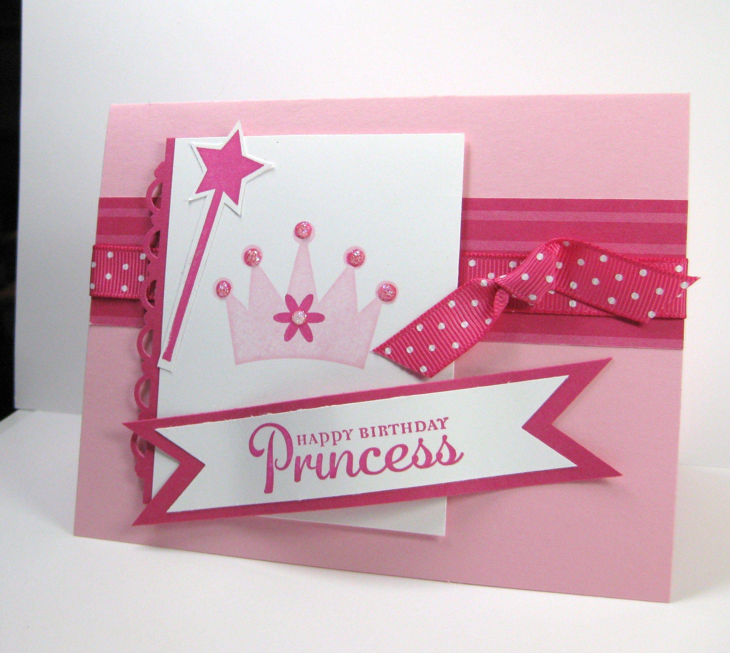 Happy Birthday Princess Card Cards etc Kids – Happy Birthday Princess Card