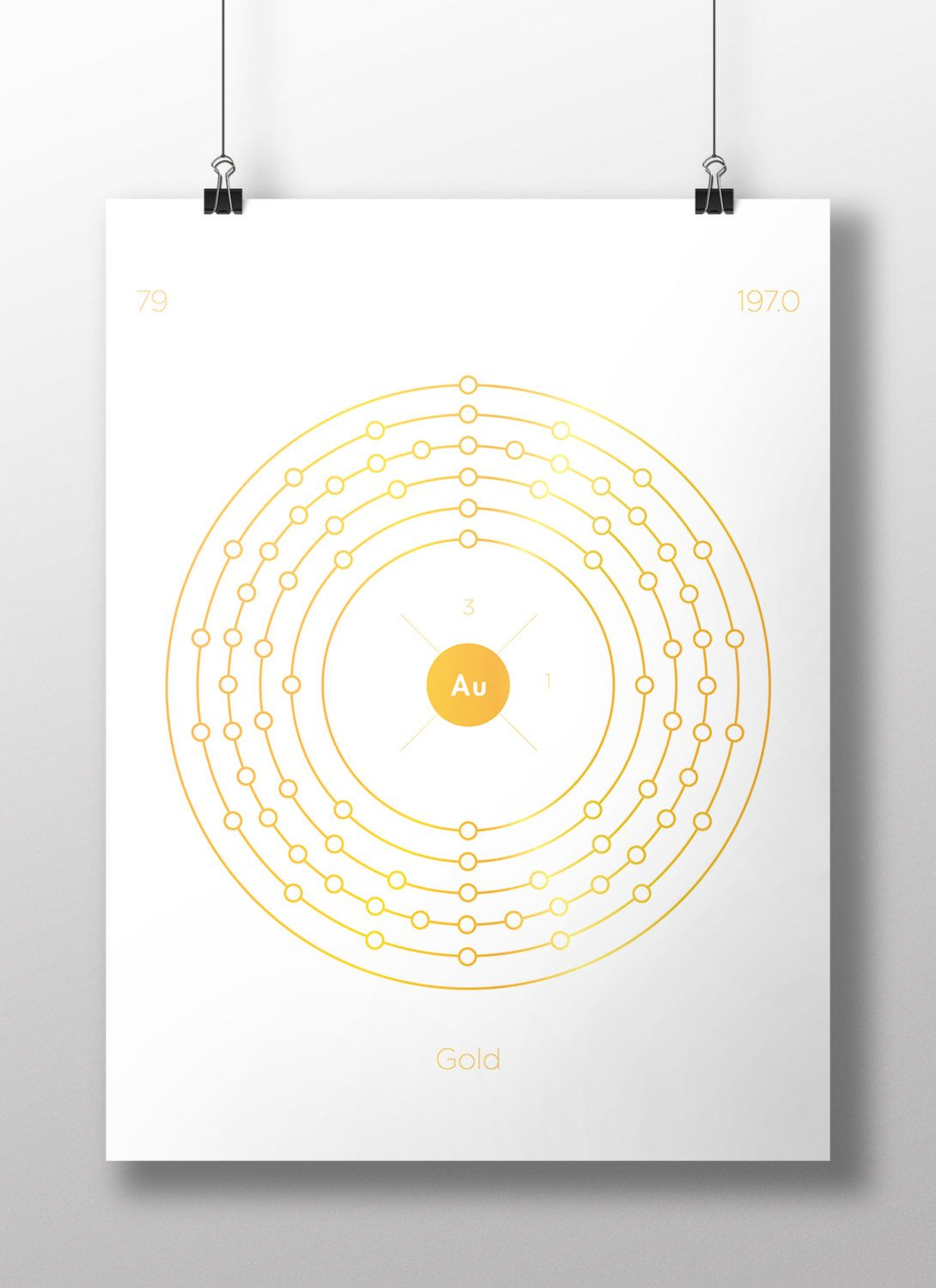 Gold periodic table of elements electron diagrams minimal gold periodic table of elements electron diagrams minimal elements chemistry print urtaz Image collections