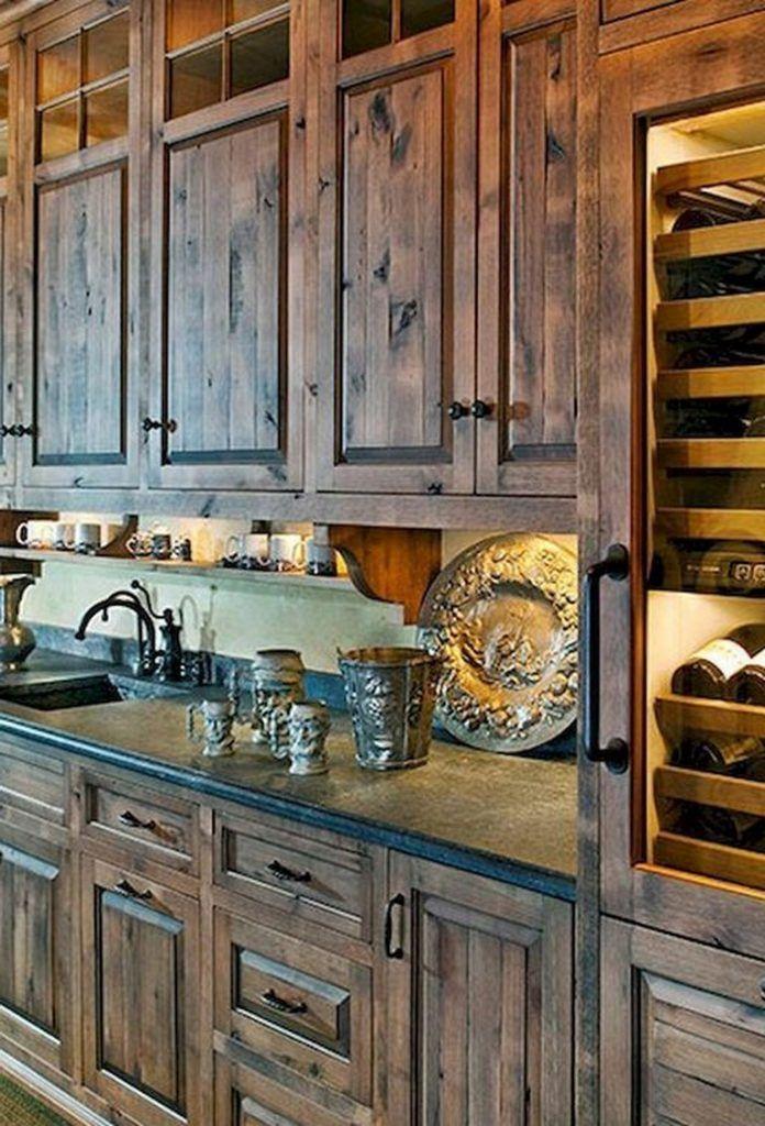 17+ Rural Kitchen Cabinet Design Ideas With Oak Wood # ...