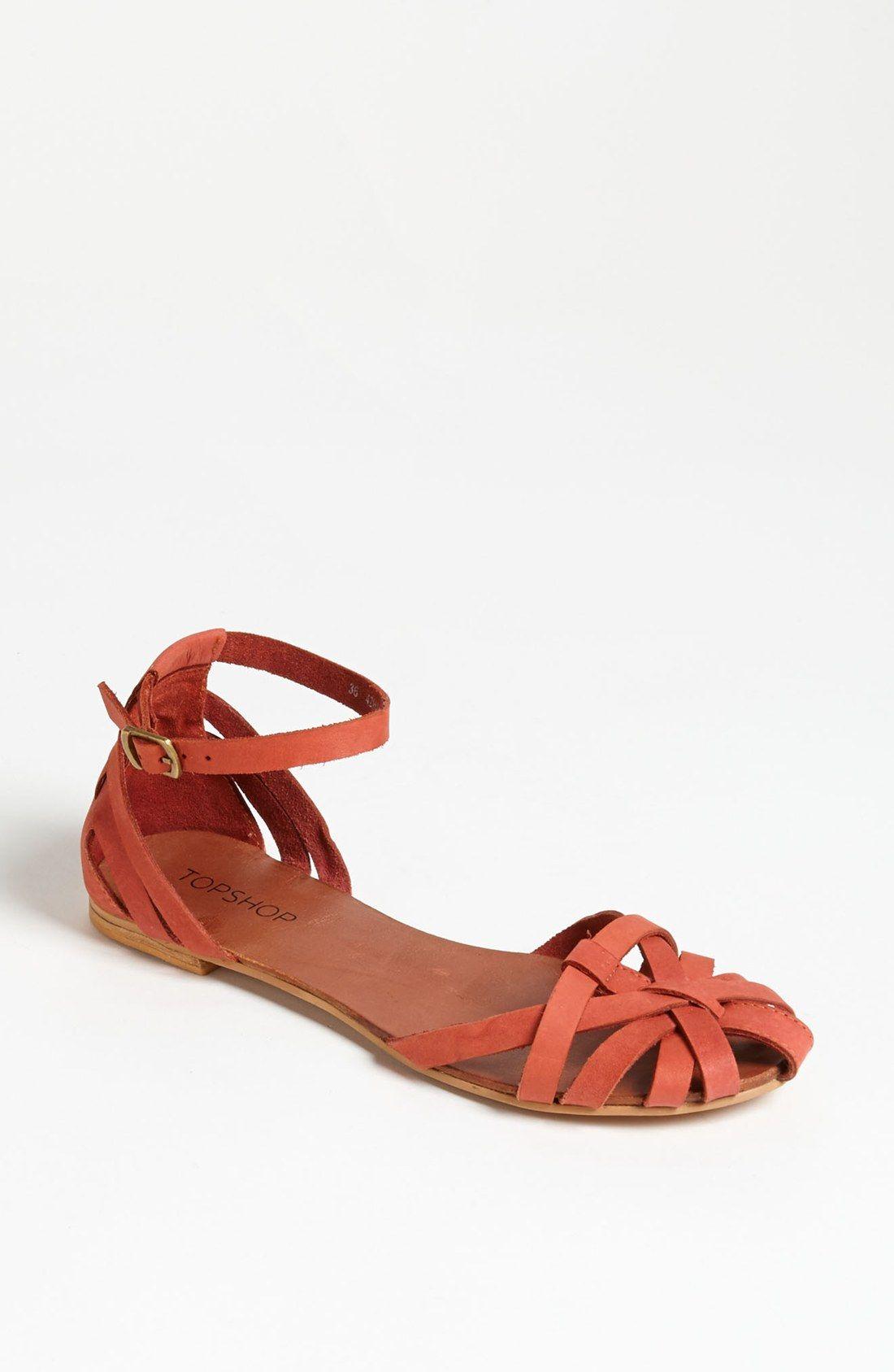 Buy TOPSHOP Women's Orange Happy Cage Toe Sandal, starting ...