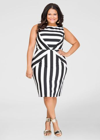 Striped Ponti Sheath Dress Pinterest